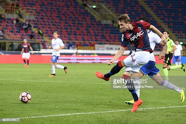 Ladislav Krejci of Bologna FC in action during the Serie A match between Bologna FC and UC Sampdoria at Stadio Renato Dall'Ara on September 21 2016...
