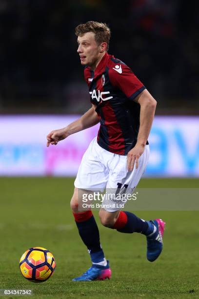Ladislav Krejci of Bologna FC in action during the Serie A match between Bologna FC and AC Milan at Stadio Renato Dall'Ara on February 8 2017 in...