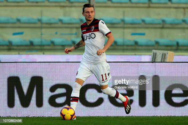 Ladislav Krejci of Bologna FC in action during the Serie A match between Empoli and Bologna FC at Stadio Carlo Castellani on December 9 2018 in...