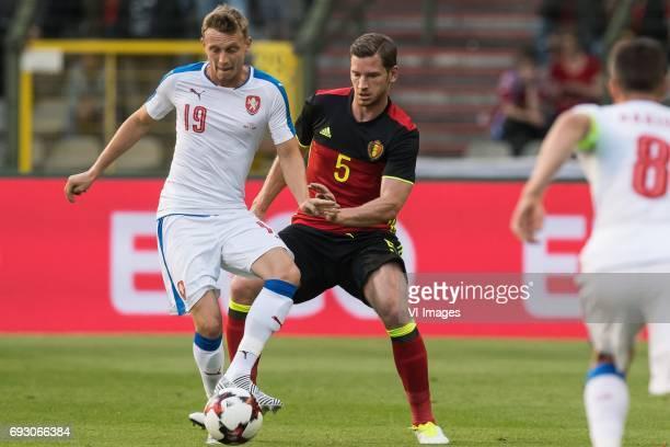 Ladislav Krejci of Czech Republic Jan Vertonghen of Belgiumduring the friendly match between Belgium and Czech Republic on June 05 2017 at the Koning...