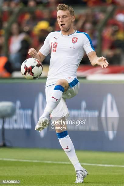 Ladislav Krejci of Czech Republicduring the friendly match between Belgium and Czech Republic on June 05 2017 at the Koning Boudewijn stadium in...