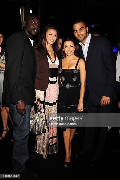 Ladj Doukoure Rachel LegrainTrapani basketball player Tony Parker and Actress Eva Longoria attends the Launch Party for the Ingenieur Automatic...