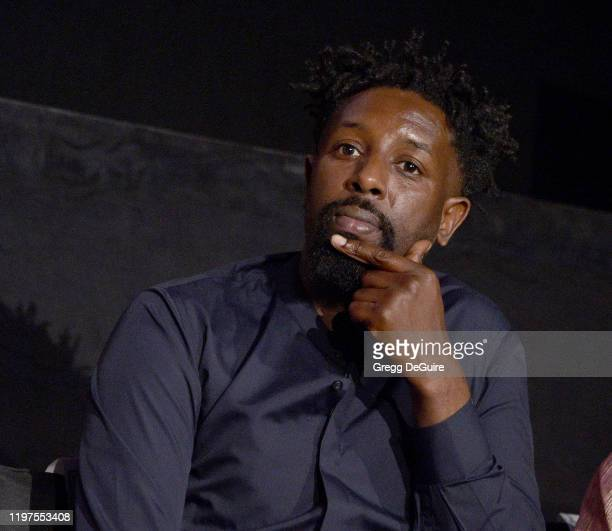Ladj Ly attends the HFPA's 2020 Golden Globes Awards Best Motion Picture Foreign Language Symposium at the Egyptian Theatre on January 04 2020 in...