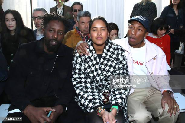 Ladj Ly Helen Lasichanh and her husband Pharrell Williams attend the Chanel Haute Couture Spring/Summer 2020 show as part of Paris Fashion Week on...