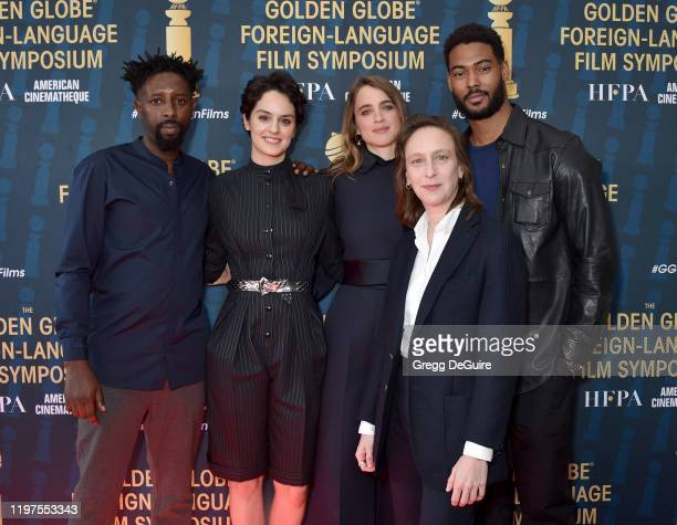 Ladj Ly, Noemie Merlant, Adele Haenel, Celine Sciamma, and Djibril Zonga attend the HFPA's 2020 Golden Globes Awards Best Motion Picture - Foreign...