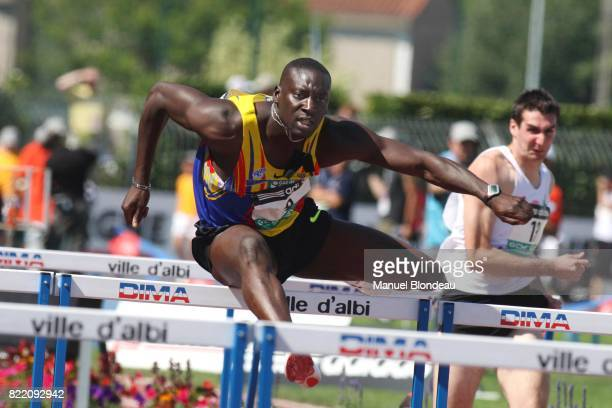 Ladji DOUCOURE 110M Haies Championnats de France Athletisme Elite 2008 Albi