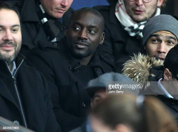 Ladji Doucoure attends the French Cup match between Paris SaintGermain FC and Montpellier HSC at the Parc des Princes stadium on January 22 2014 in...