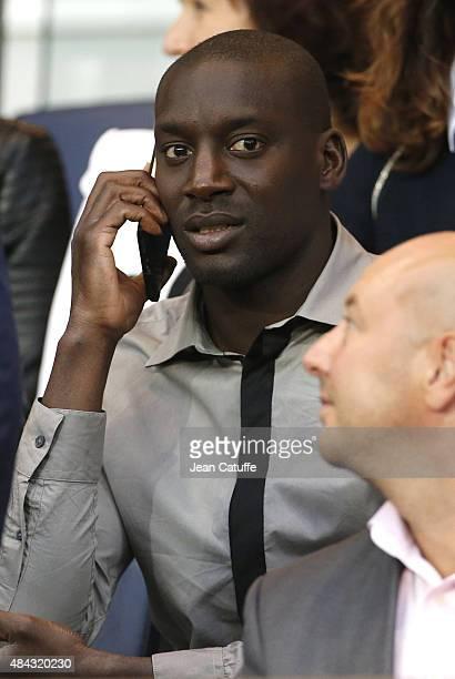 Ladji Doucoure attends the French Ligue 1 match between Paris SaintGermain FC and GFC Ajaccio at Parc des Princes stadium on August 16 2015 in Paris...