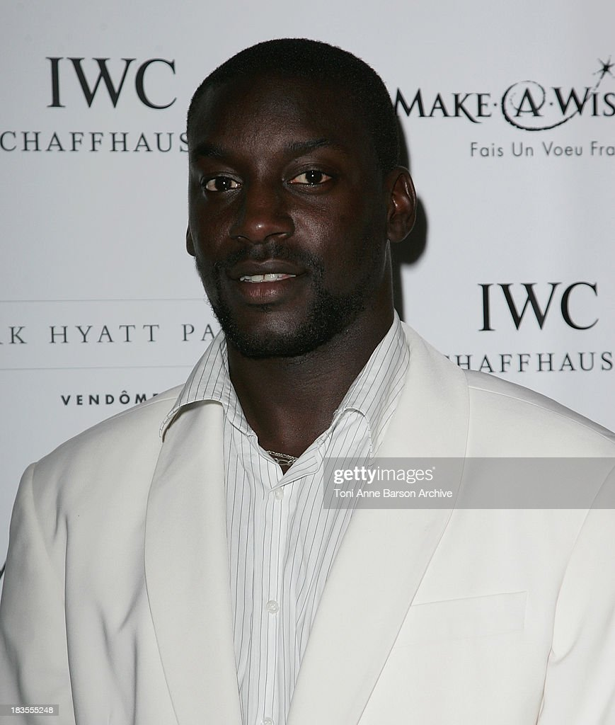 Ladji Doucoure attends the Make a Wish, IWC Schaffhausen And Tony Parker Gala Dinner on September 27, 2007 in Paris.