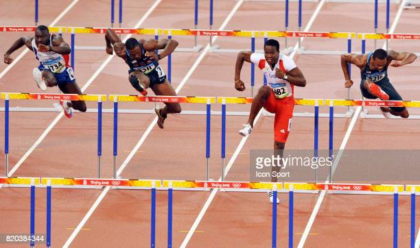 Ladji DOUCOURE / David OLIVER / Dayron ROBLES / David PAYNE Finale 110m haies Jeux Olympiques Pekin 2008