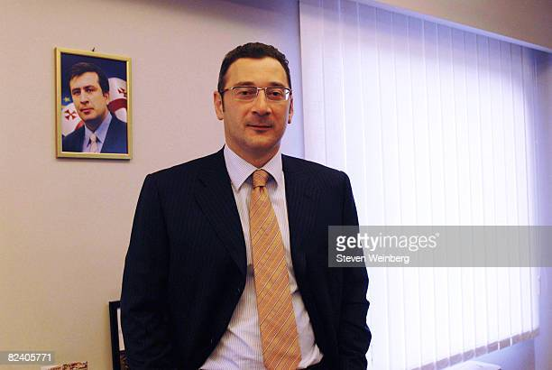 Lado Gurgenidze, Prime Minister of Georgia, stands in his office May 10, 2008 in Tbilisi, Georgia. Tension between Russia and the Republic of Georgia...