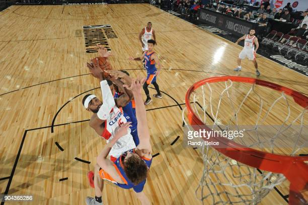 LaDontae Henton of the Agua Caliente Clippers shoots the ball against the Westchester Knicks at NBA G League Showcase Game 19 on January 12 2018 at...