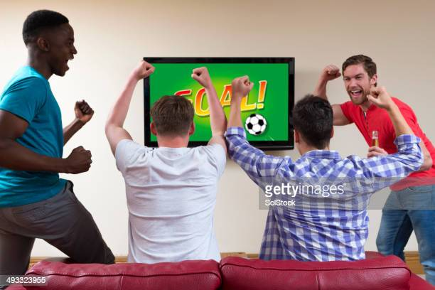 Lads Watching the Match