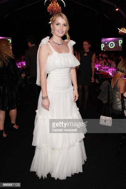 Ladsy Kitty Spencer attends BVLGARI Dinner Party at Stadio dei Marmi on June 28 2018 in Rome Italy