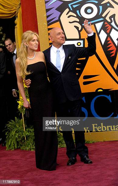 Lady Alexandra Christmann and Sir Ben Kingsley during The 76th Annual Academy Awards Arrivals by Kevin Mazur at The Kodak Theater in Hollywood...