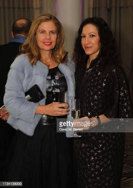 Lady Aliai and Katya Zemtsova attend the Russian Ballet Gala and dinner on March 31 2019 in London England