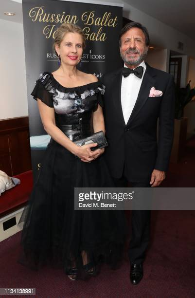 Lady Aliai and Sir Rocco Forte attend the Russian Ballet Gala and dinnerr on March 31 2019 in London England