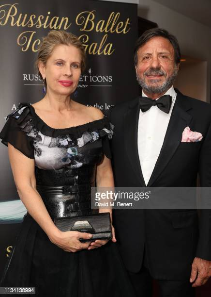 Lady Aliai and Sir Rocco Forte attend the Russian Ballet Gala and dinner on March 31 2019 in London England