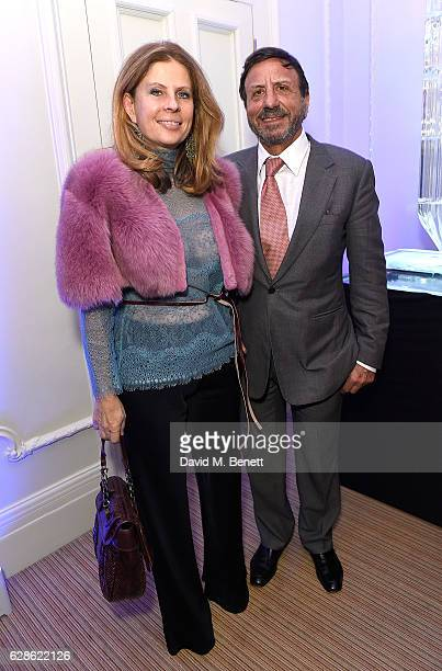 Lady Aliai Forte and Sir Rocco Forte attend as ELEGANTES LONDON Unveils the World's Rarest Perfumes at BrownÕs Hotel on December 8 2016 in London...