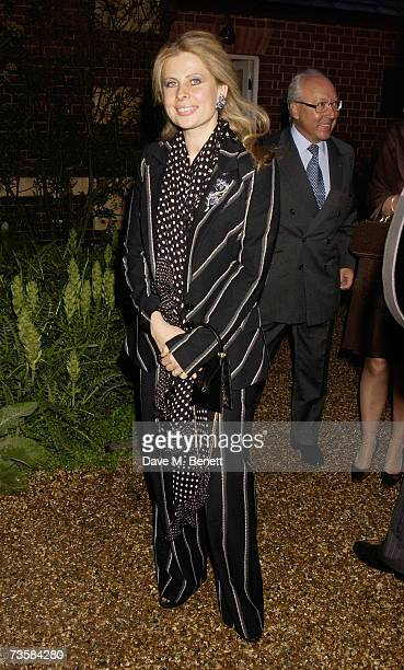 Lady Aliai Forte wife of hotelier Sir Rocco Forte attend the Cartier Gala Evening at the Chelsea Physic Garden May 20 2003 in London England