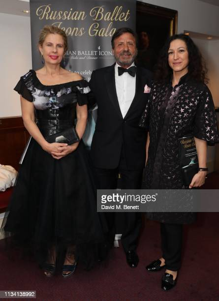 Lady Aliai Sir Rocco Forte and Katya Zemtsova attend the Russian Ballet Gala and dinner on March 31 2019 in London England