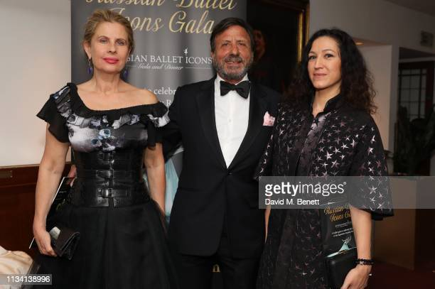 Lady Aliai Sir Rocco Forte and Katya Zemtsova attends the Russian Ballet Gala and dinner on March 31 2019 in London England
