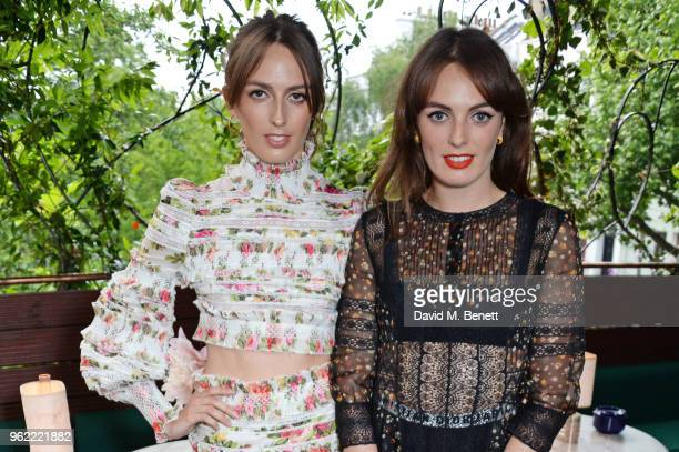 Lady Alice Manners and Lady Violet Manners attend a private dinner hosted by Cartier to celebrate the opening of the British Polo Season at Casa Cruz...