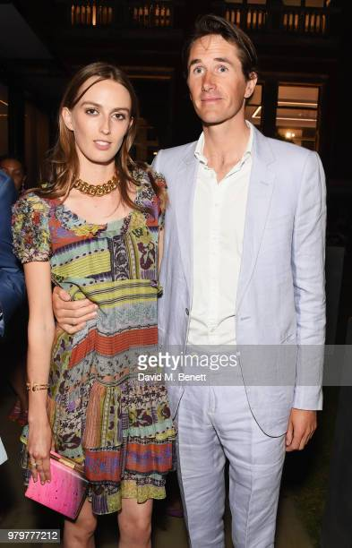 Lady Alice Manners and Otis Ferry attend the Summer Party at the VA in partnership with Harrods at the Victoria and Albert Museum on June 20 2018 in...
