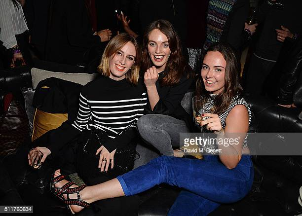 Lady Alice Manners Lady Violet Manners and Lady Eliza Manners attend the JF London Presentation and Party during London Fashion Week Autumn/Winter...