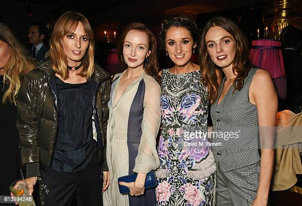 Lady Alice Manners Olivia Grant Rosanna Falconer and Lady Violet Manners attend the Moncler 'Freeze For Frieze' Dinner Party at the Moncler Bond...