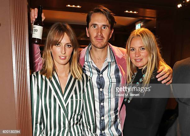 Lady Alice Manners Otis Ferry and Marissa Montgomery wearing Burberry attend an event to celebrate 'The Tale of Thomas Burberry' at Burberry's all...