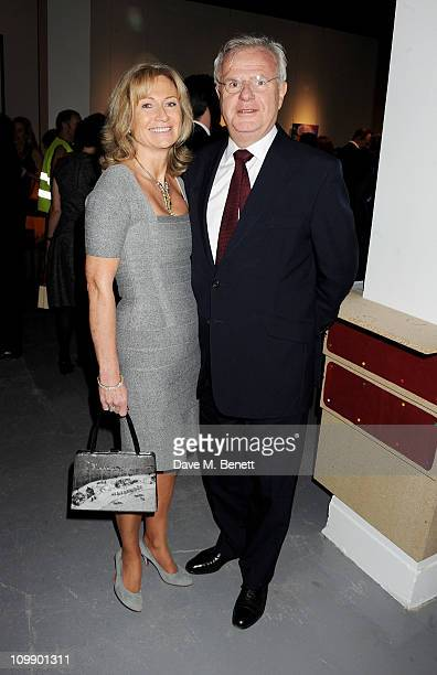 Lady Alison Macleod and Lord Paul Myners attend a champagne reception preceeding the Contemporary Art Society Auction Gala on March 9 2011 in London...
