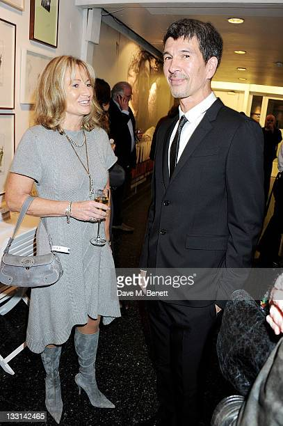 Lady Alison Myners and director Alex Turnbull attend the UK Film Premiere of 'Beyond Time William Turnbull' at The Institute Of Contemporary Arts on...