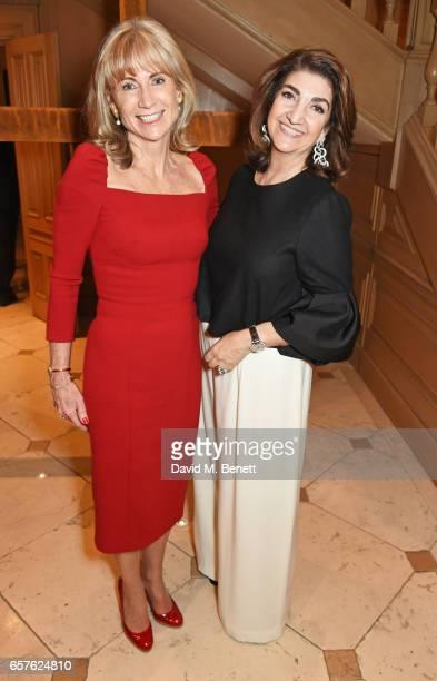 Lady Alison Myners and Fatima Maleki attend Lisa Tchenguiz's party hosted by Fatima Maleki in Mayfair on March 24 2017 in London England