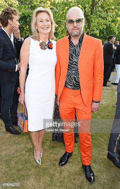 Lady Alison Myners and Gavin Turk attend The Serpentine Gallery summer party at The Serpentine Gallery on July 2 2015 in London England