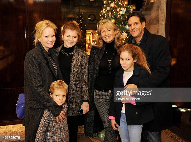 Lady Alison Myners and guests attend as Joely Richardson officially opens the Tiffany Co Christmas Shop on Bond Street London on November 24 2013 in...