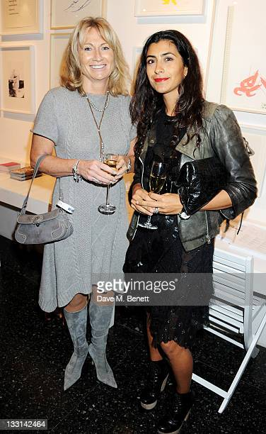 Lady Alison Myners and Mya Turnbull attend the UK Film Premiere of 'Beyond Time William Turnbull' at The Institute Of Contemporary Arts on November...