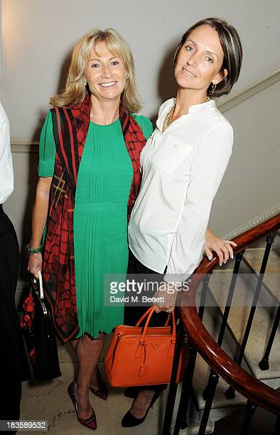 Lady Alison Myners and Saffron Aldridge attend the annual Tatler Great Girls Lunch in aid of Cancer Research UK at Mortons on October 7 2013 in...