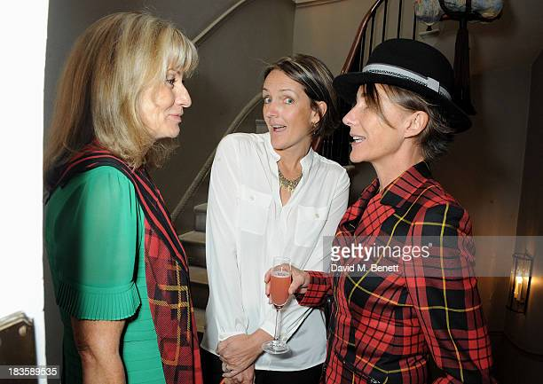 Lady Alison Myners Saffron Aldridge and Aoife Lambilliotte attend the annual Tatler Great Girls Lunch in aid of Cancer Research UK at Mortons on...