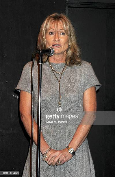 Lady Alison Myners speaks at the UK Film Premiere of 'Beyond Time William Turnbull' at The Institute Of Contemporary Arts on November 17 2011 in...