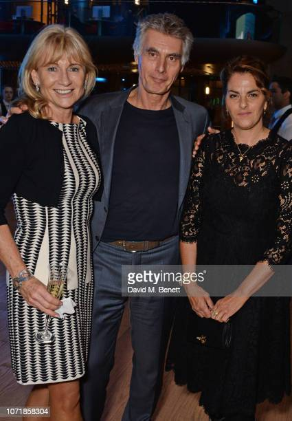 Lady Alison Myners Stephen Garrett and Tracey Emin attend the Bloomberg x Vanity Fair Climate Exchange gala dinner 2018 at Bloomberg London on...