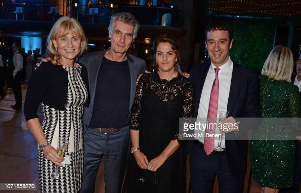Lady Alison Myners Stephen Garrett Tracey Emin and Guest attend the Bloomberg x Vanity Fair Climate Exchange gala dinner 2018 at Bloomberg London on...