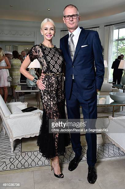 Lady Amanda Cronin and guest attend the wedding party of Gareth Wittstock and Roisin Galvin on September 4 2015 in SaintJeanCapFerrat France