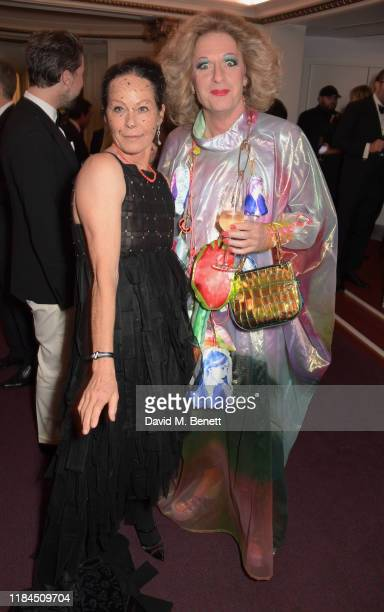 Lady Amanda Harlech and Grayson Perry attend the 65th Evening Standard Theatre Awards in association with Michael Kors at the London Coliseum on...