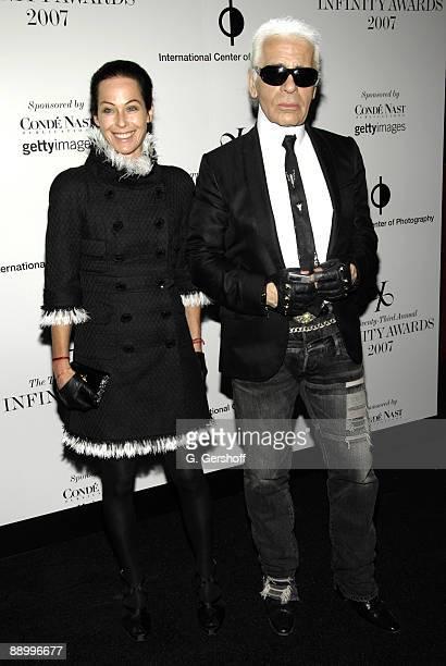 Lady Amanda Harlech and Karl Lagerfeld