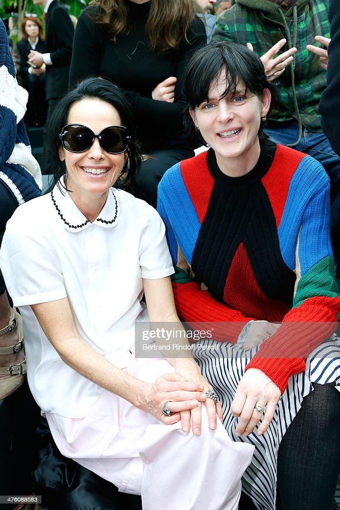 Celine : Front Row  - Paris Fashion Week Womenswear Fall/Winter 2014-2015 : News Photo