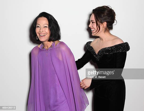 Lady Amanda Harlech and Tallulah Harlech at the WilliamVintage dinner in partnership with American Express at St Pancras Renaissance Hotel on...
