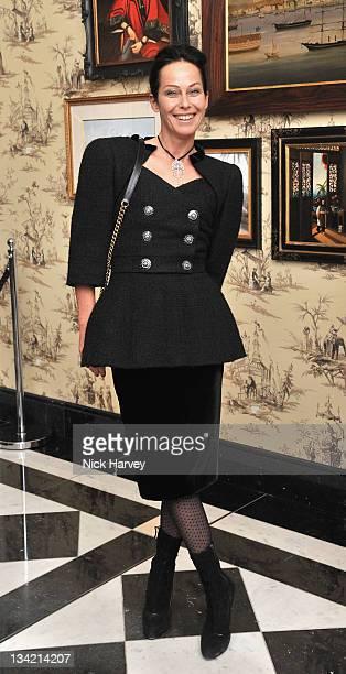 Lady Amanda Harlech arrives at the British Fashion Awards at The Savoy Hotel on November 28 2011 in London England