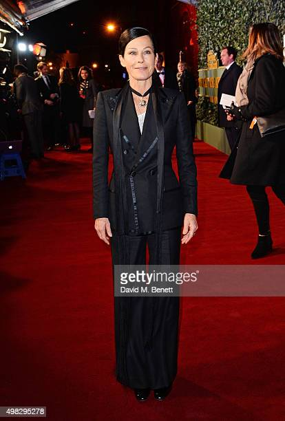Lady Amanda Harlech arrives at The London Evening Standard Theatre Awards in partnership with The Ivy at The Old Vic Theatre on November 22 2015 in...