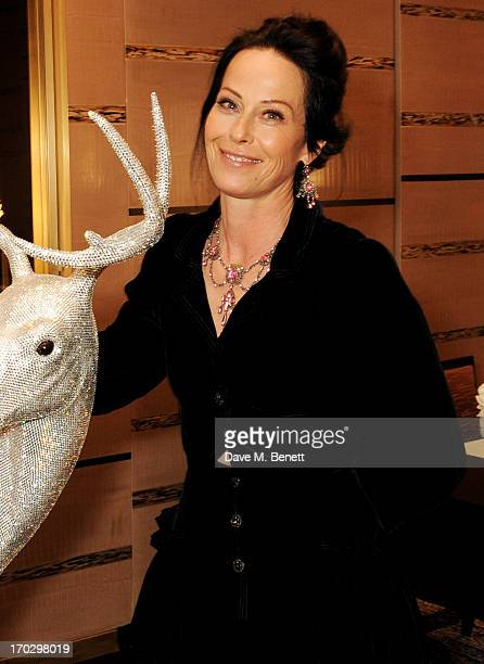 Lady Amanda Harlech attends a private view of the new CHANEL flagship boutique on New Bond Street on June 10 2013 in London England